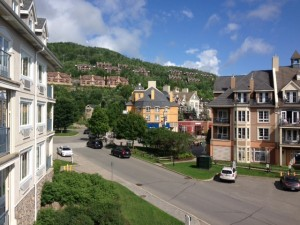 Mont Tremblant from our hotel window